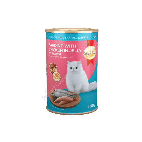 SmartHeart Cat Canned Sardine with Chicken in Jelly