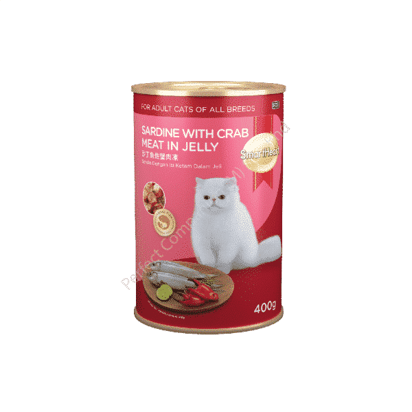 SmartHeart Cat Canned Sardine with Crabmeat in Jelly