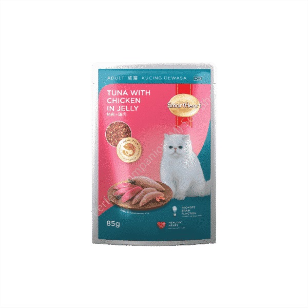 SmartHeart Cat Pouch Tuna with Chicken In Jelly