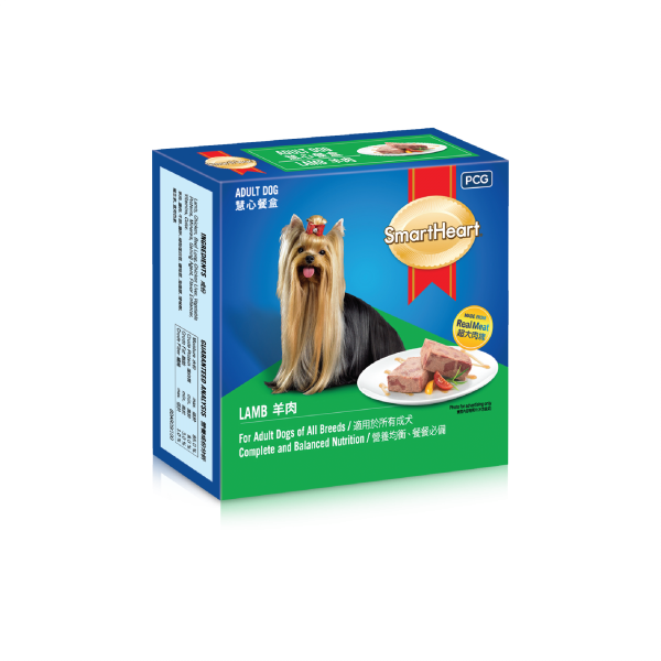 SmartHeart Dog Tray Lamb Flavour