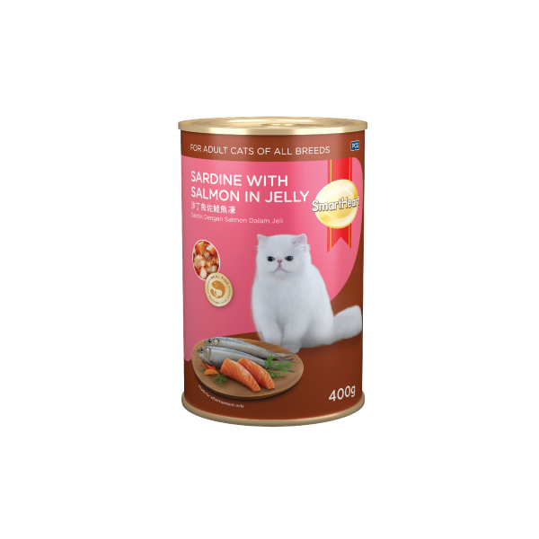 SmartHeart Cat Canned Sardine with Salmon in Jelly