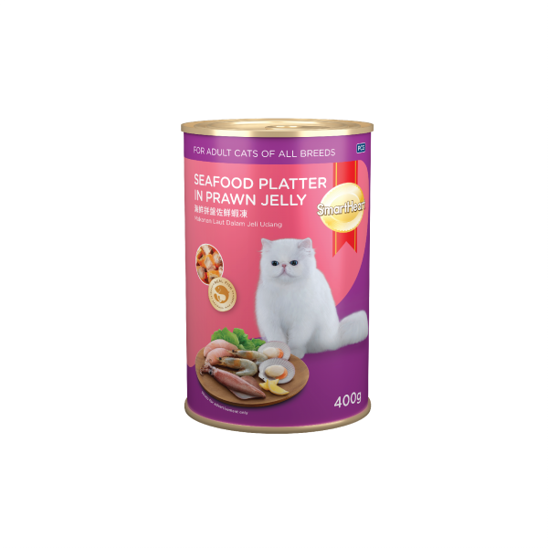 SmartHeart Cat Canned Seafood Platter In Prawn Jelly