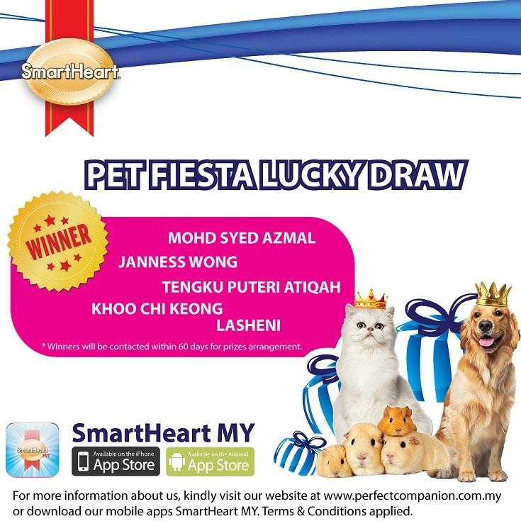 SmartHeart Pet Fiesta Lucky Draw 2018 (23 April 2018)