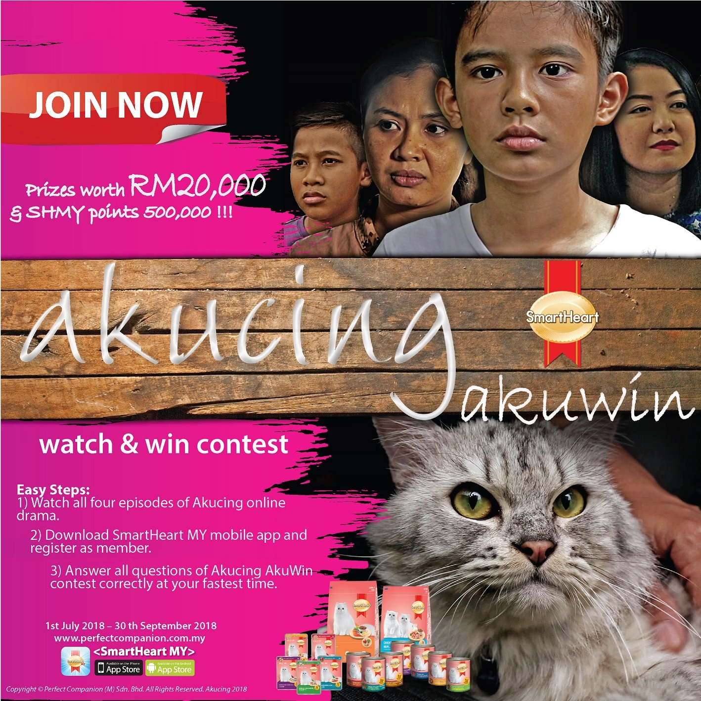 Akucing Akuwin Online Contest (1/7/2018 – 30/9/2018)