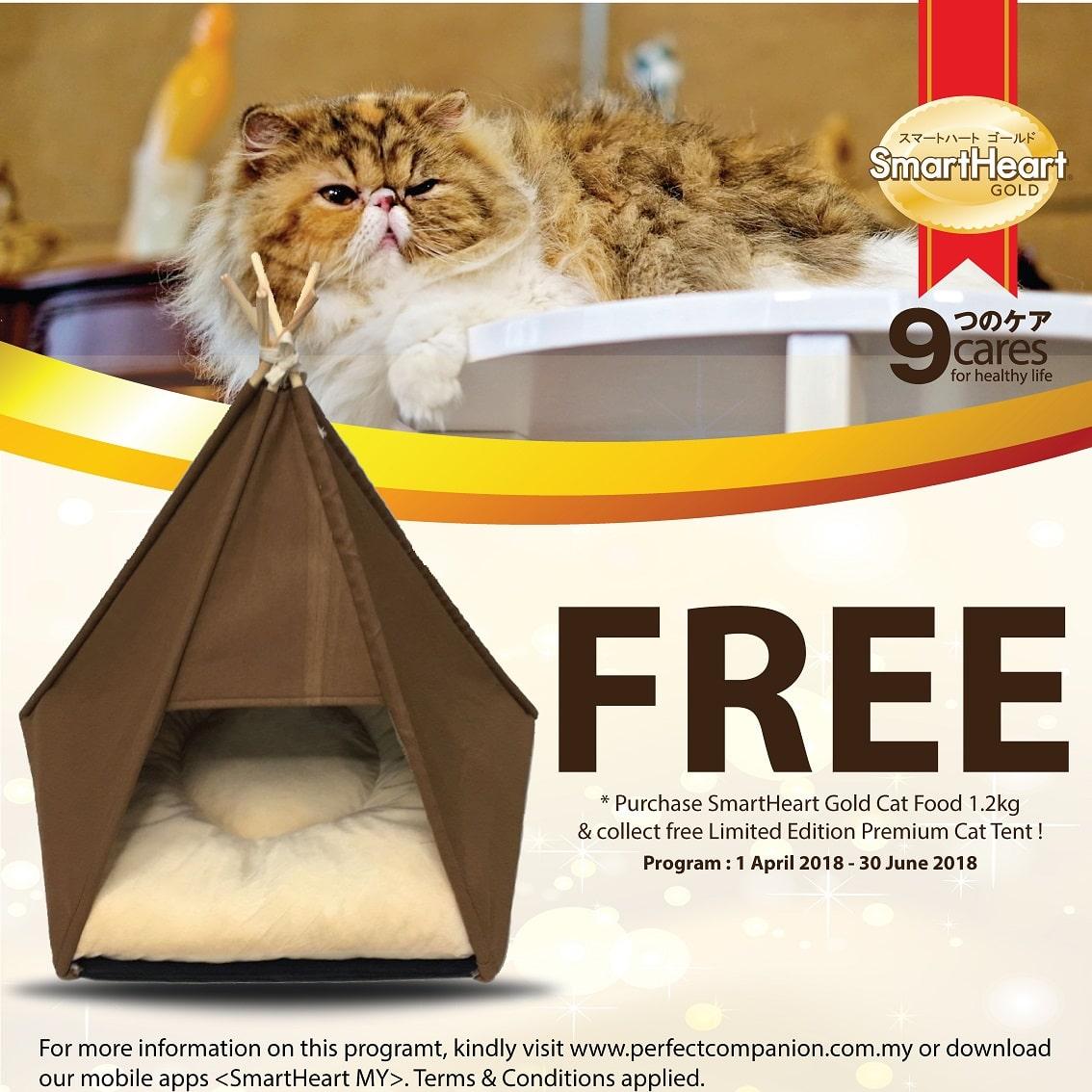 SmartHeart Gold Cat Tent Redemption Program (1 April – 30 June 2018)
