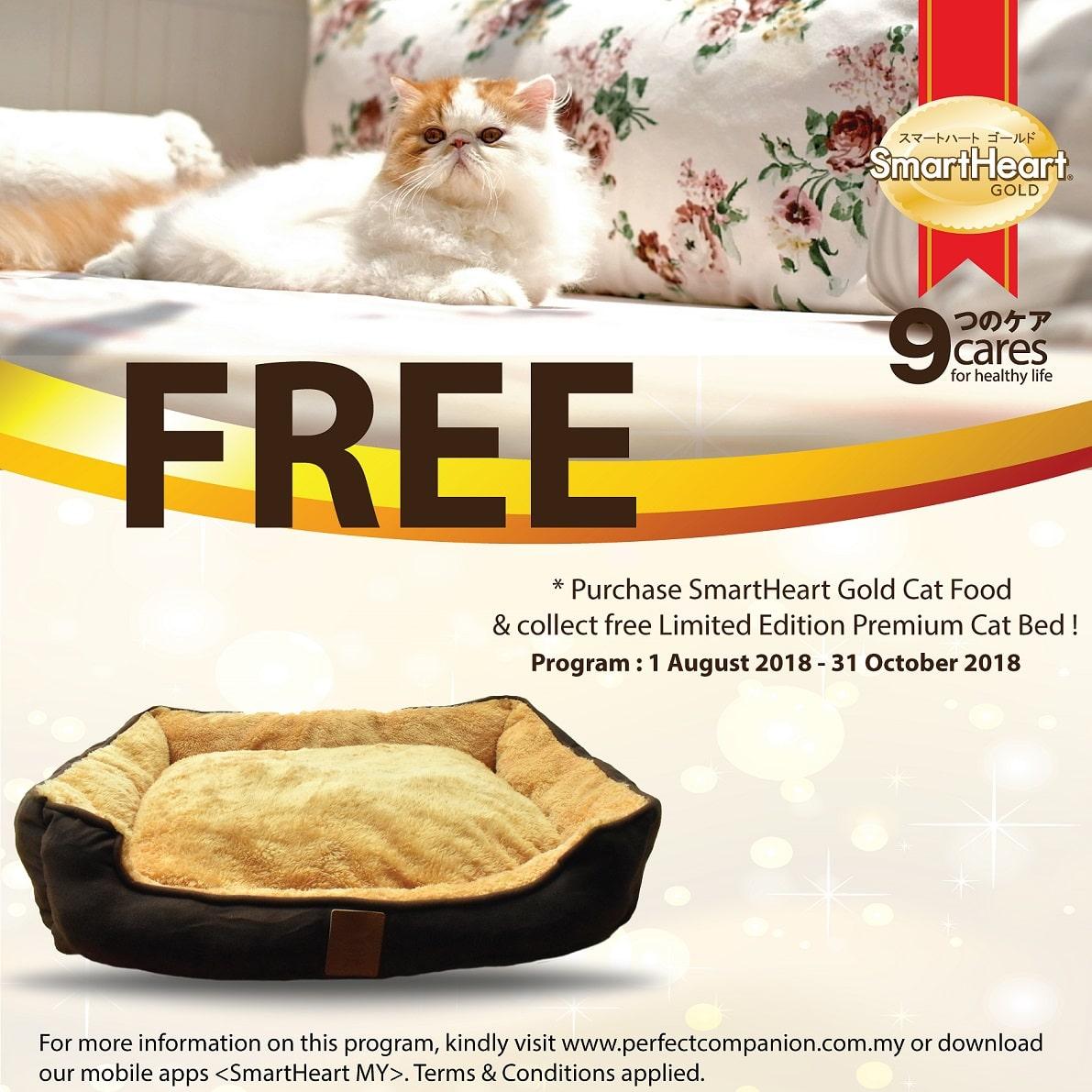 SmartHeart Gold Cat Bed Redemption Program (1 Aug – 31 Oct 2018)