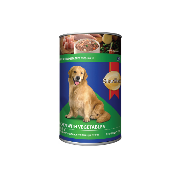 SmartHeart Dog Canned Chicken & Vegetable Flavour