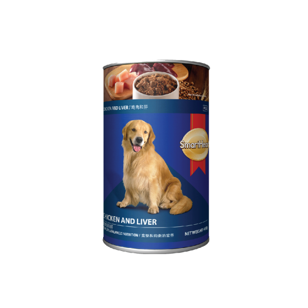 SmartHeart Dog Canned Chicken & Liver Flavour