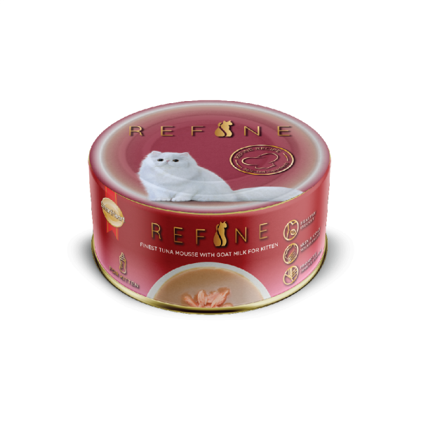 Refine Canned – Finest Tuna Mousse with Goat Milk for Kitten