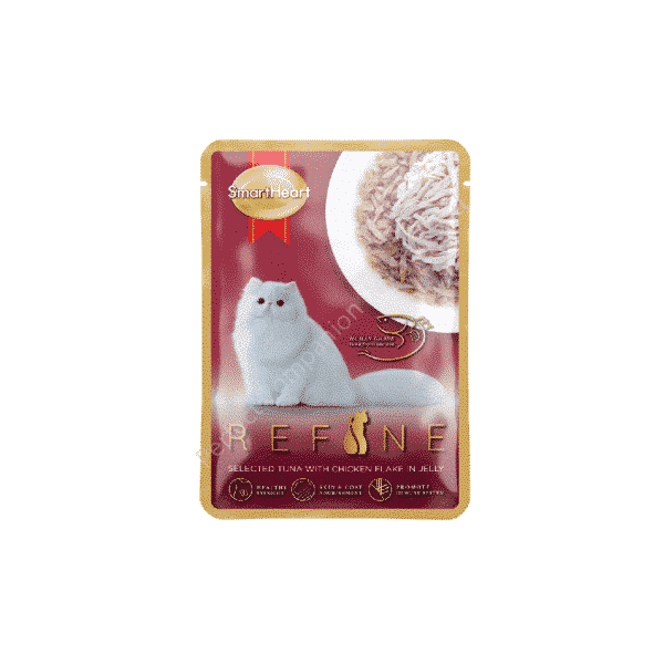 REFINE Pouch- Selected Tuna with Chicken Flake in Jelly