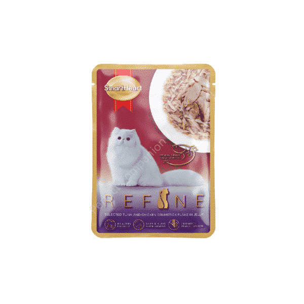 REFINE Pouch – Selected Tuna with Chicken Drumstick Flake in Jelly